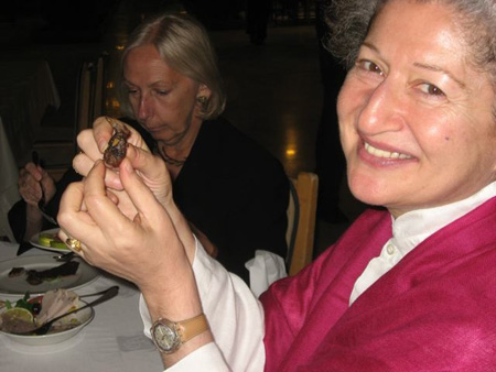 eating birds at the club d'Alep -- photo taken by Anna Sussman