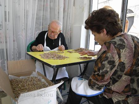 hannah-picking the pistachios copy