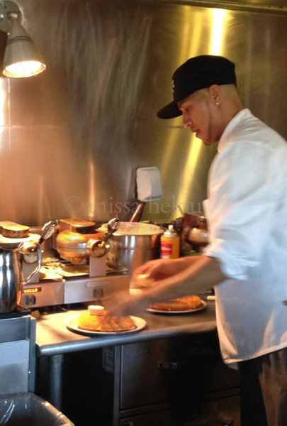 brown sugar kitchen arranging waffles on plates copy copy - Brown Sugar Kitchen