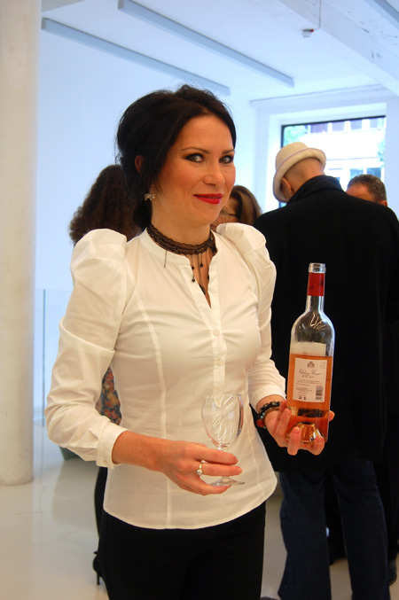 birthday picnic-erica with chateau musar rose