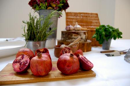 birthday picnic-pomegranates