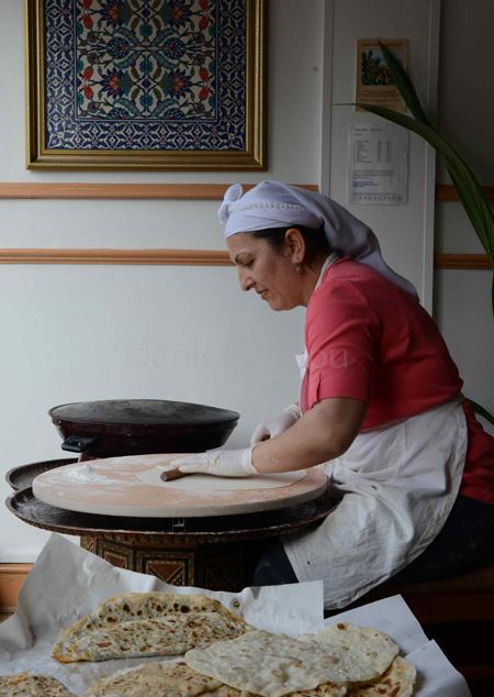 london saj borek maker-rolling out dough copy