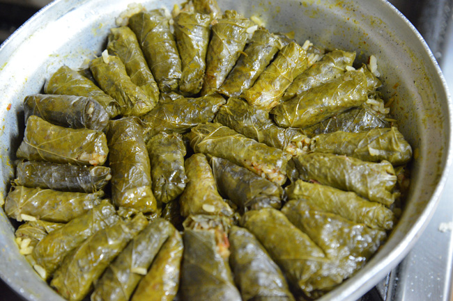 cairo-stuffed vine leaves-cooked copy