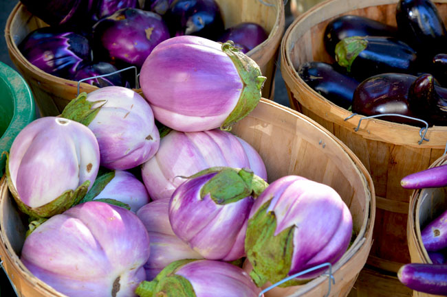 union sq farmers market - aubergines copy