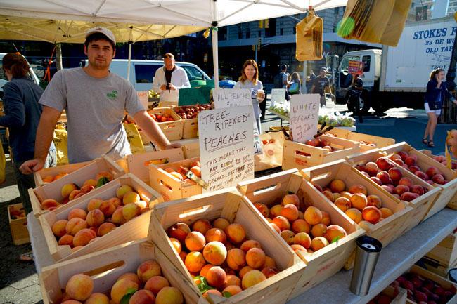 union sq farmers market - peaches copy