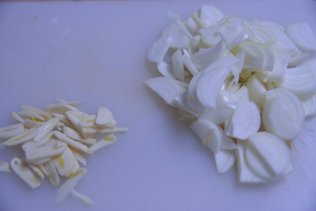 kashk-e bademjan-onions & garlic