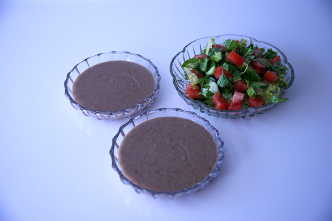 mujaddara & salad