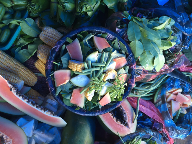mix of fruit, veg & herbs to make soup-banda aceh copy